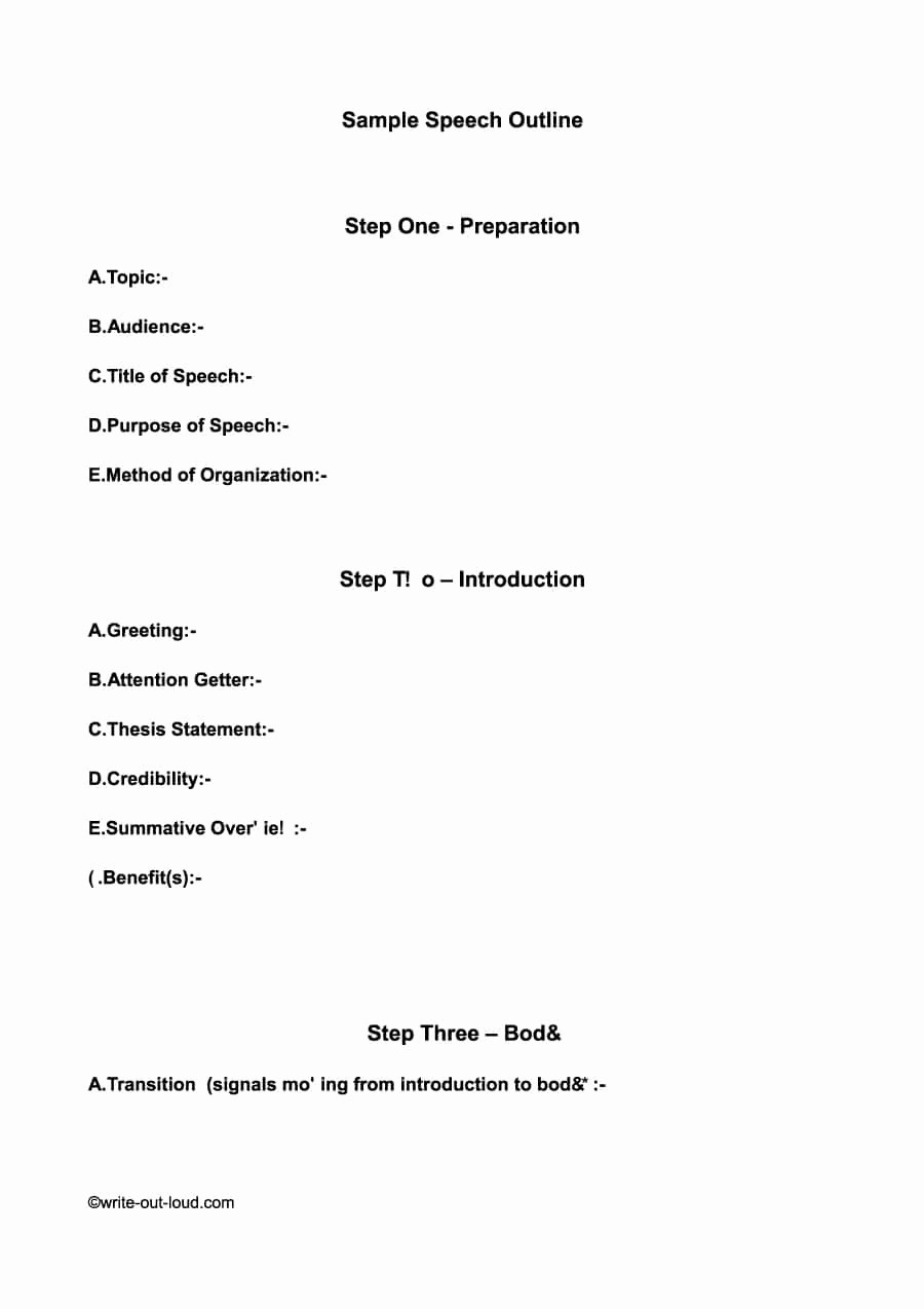 What is A Speech Outline Luxury 43 Informative Speech Outline Templates & Examples