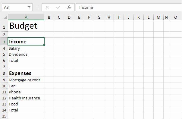 What is An Itemized Budget Unique Bud Template In Excel Easy Excel Tutorial