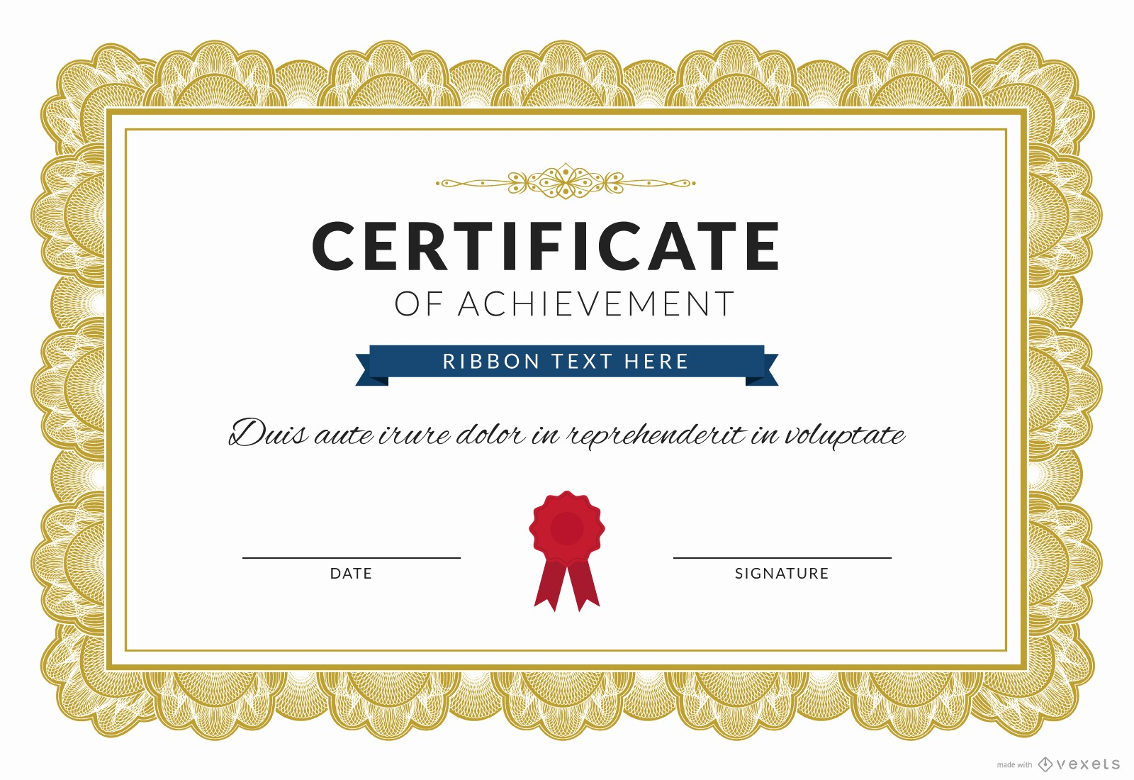 What is Certificate Of Achievement Awesome Certificate Of Achievement Maker Editable Design
