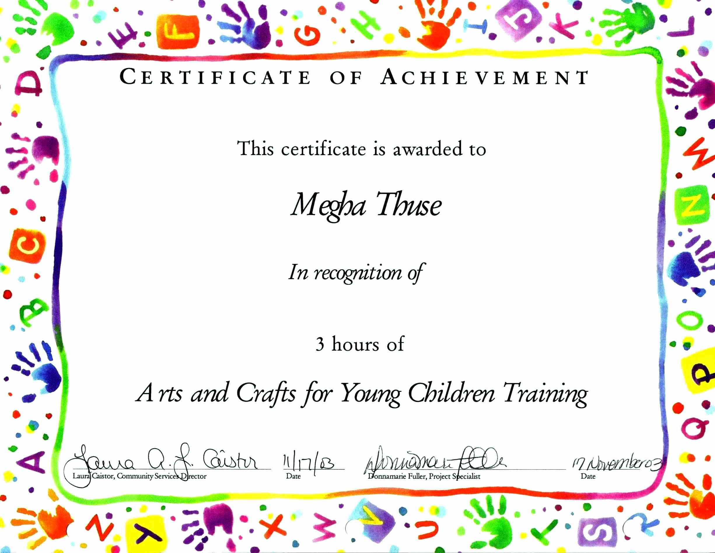 What is Certificate Of Achievement Beautiful Certificate Achievement for Kids