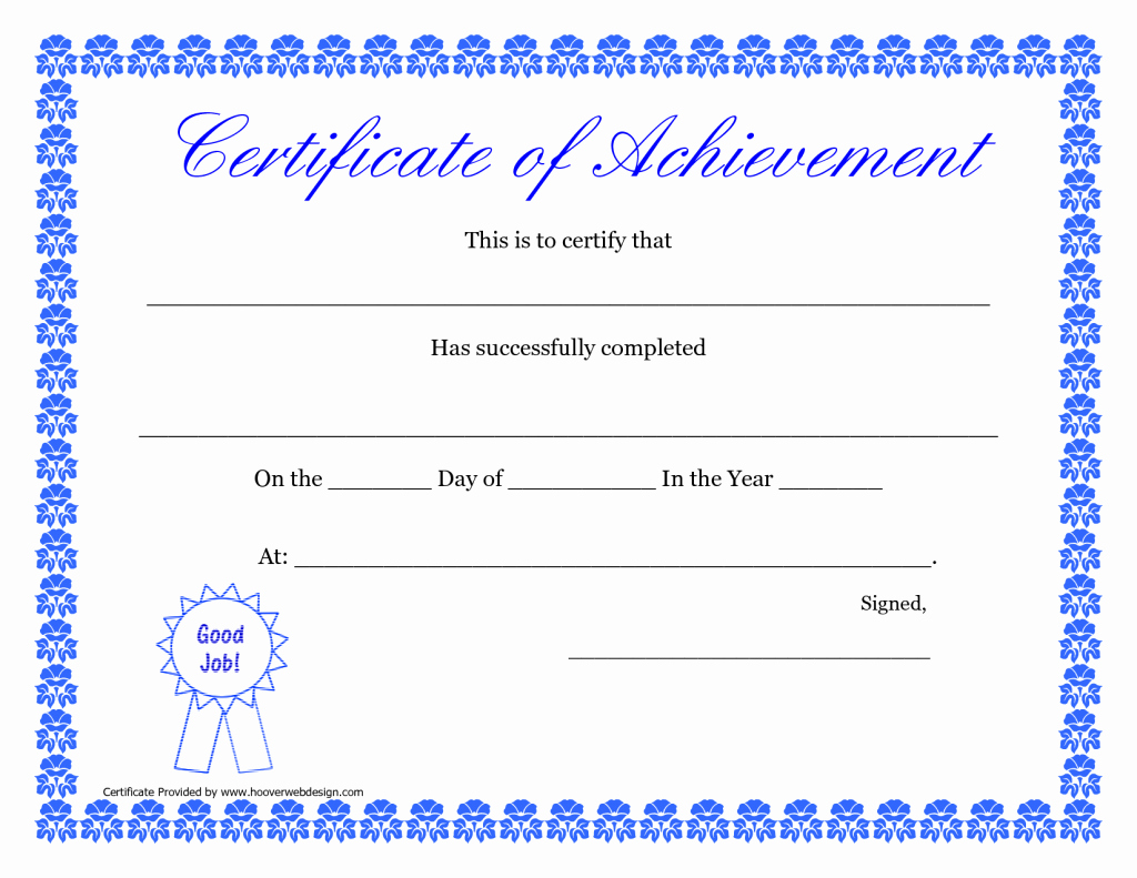 What is Certificate Of Achievement Beautiful Printable Certificate Of Achievement
