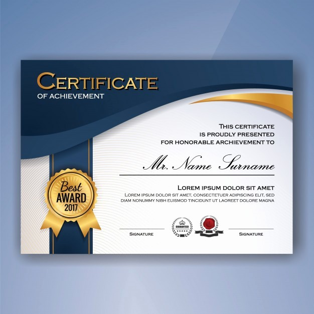 What is Certificate Of Achievement Elegant Certificate Vectors S and Psd Files