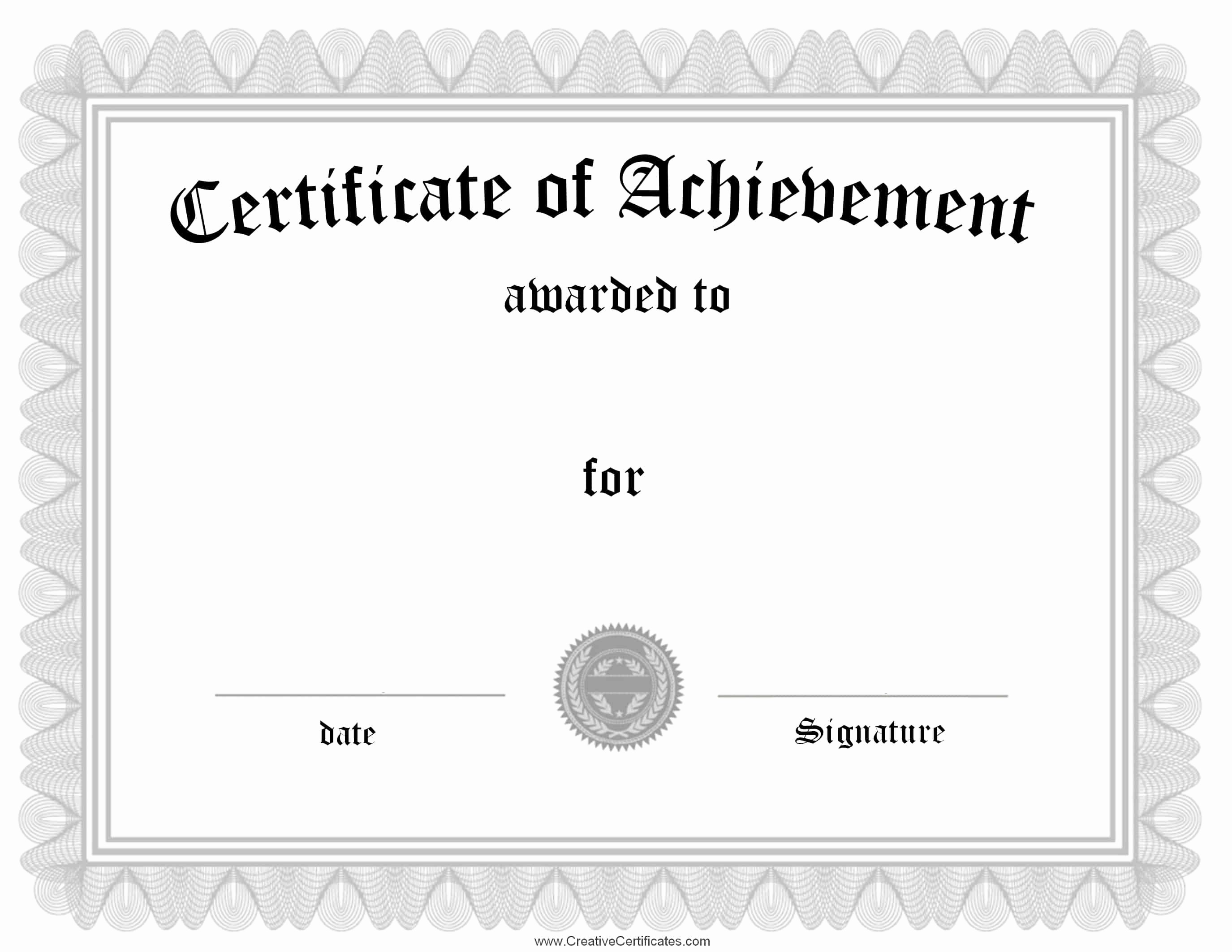 What is Certificate Of Achievement Elegant Free Customizable Certificate Of Achievement