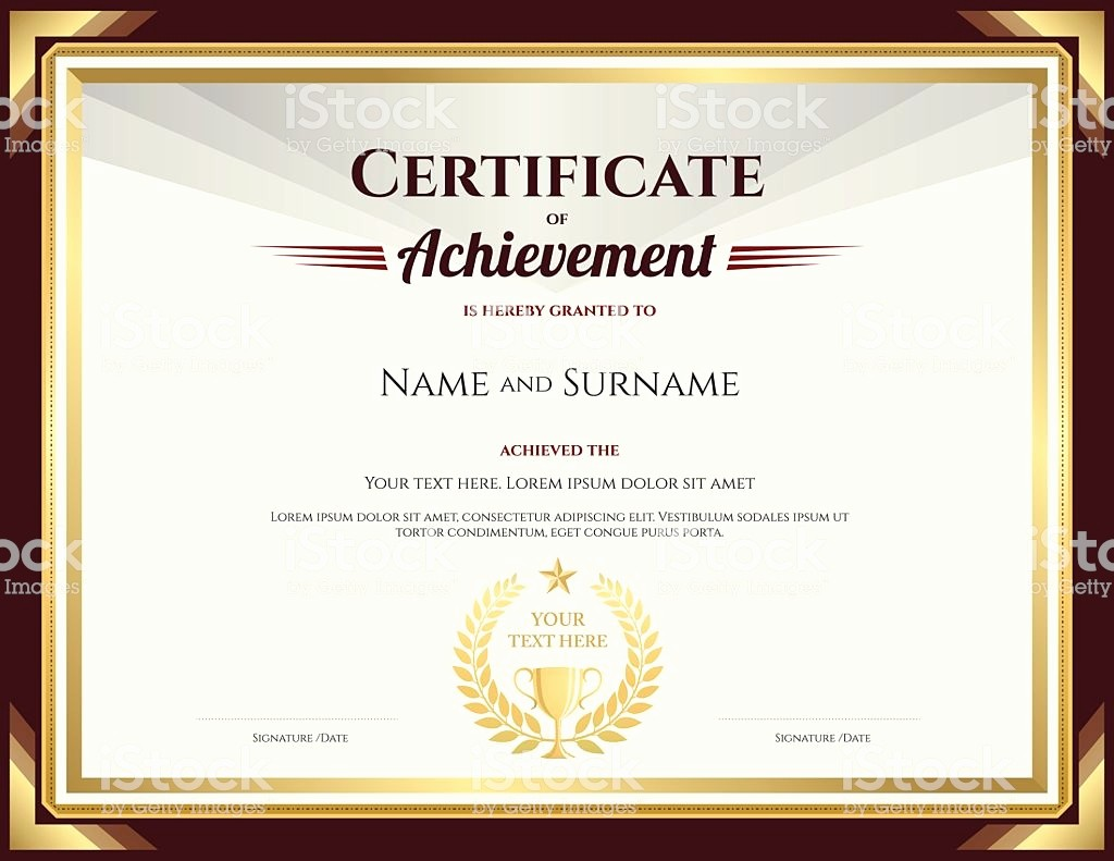 What is Certificate Of Achievement Inspirational Elegant Certificate Achievement Template with Vintage