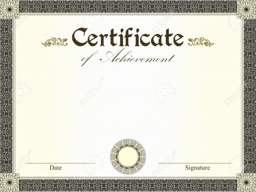 What is Certificate Of Achievement Luxury 15 Professional Certificate Of Achievement Templates