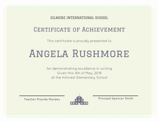 What is Certificate Of Achievement Luxury Achievement Certificate Templates Canva
