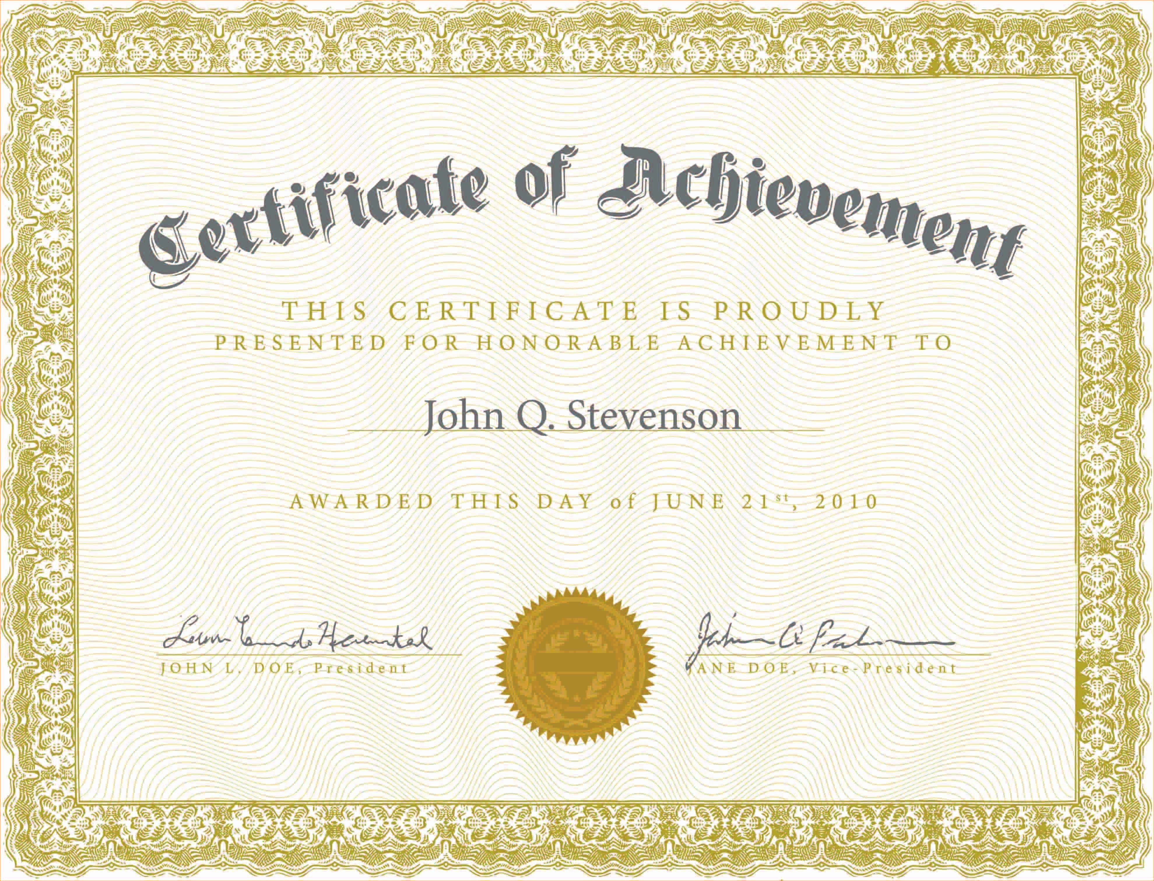 What is Certificate Of Achievement Luxury Army Certificate Achievement Template Example Mughals