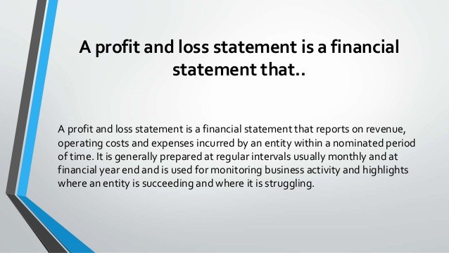 What is Profit and Loss Beautiful What is A Profit and Loss Statement