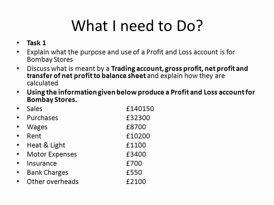 What is Profit and Loss Best Of Profit and Loss Account Ppt Video Online