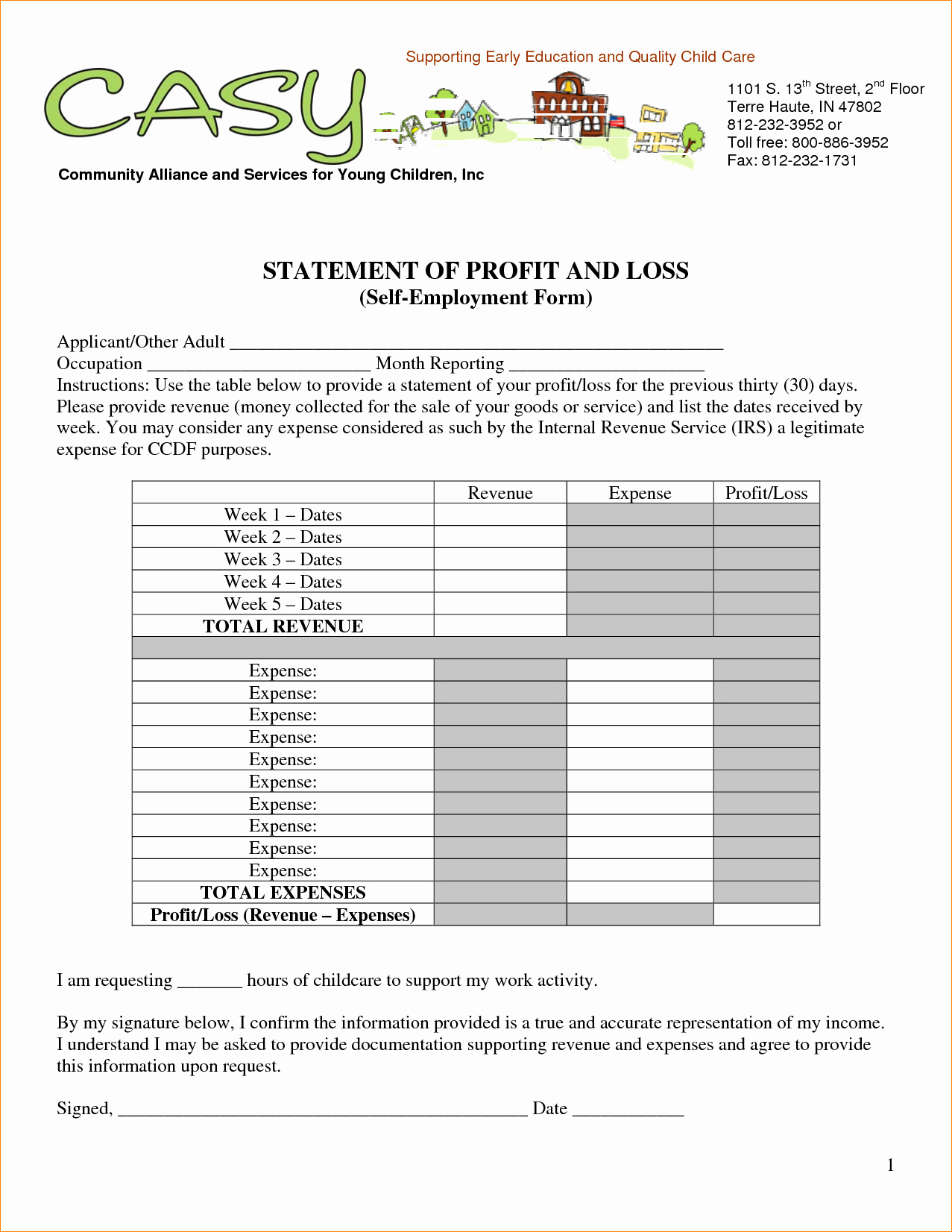 What is Profit and Loss Elegant Basic Profit and Loss Statement Template Mughals
