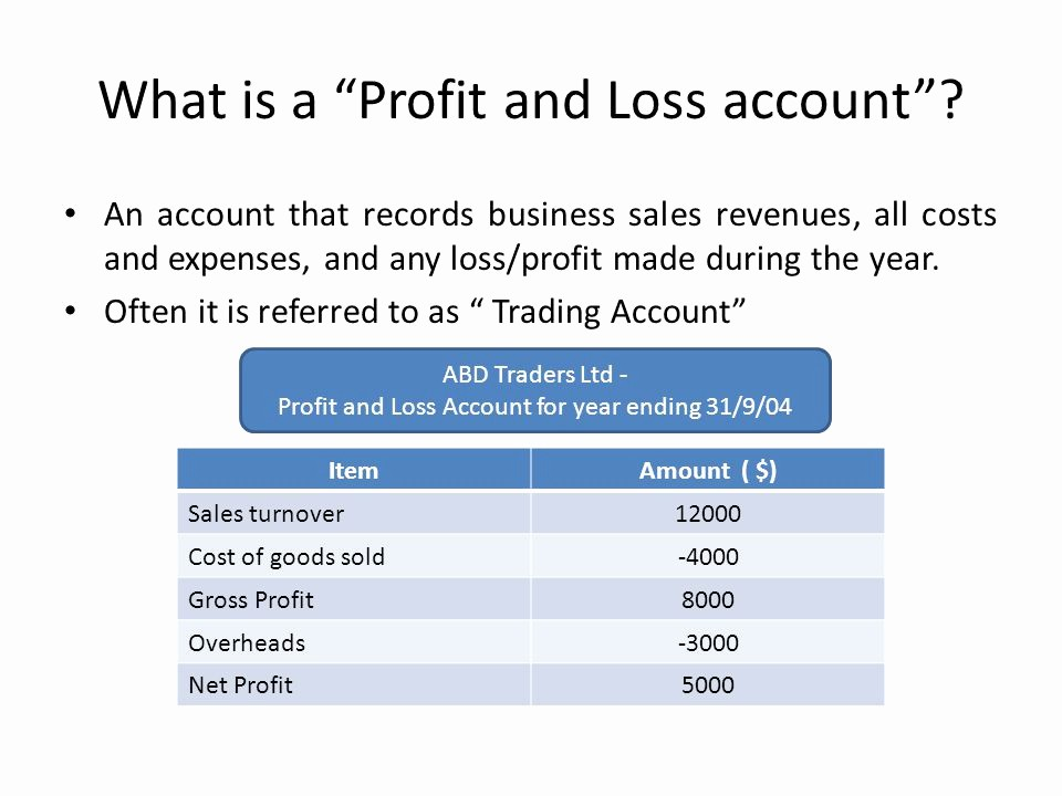 What is Profit and Loss Lovely Chapter 7 Business Accounting Ppt Video Online