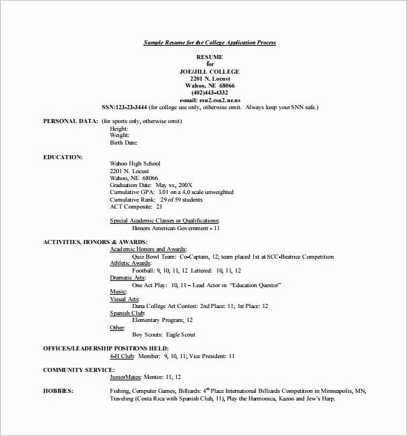 What Microsoft Program Makes Resumes Best Of 12 College Resume Templates Pdf Doc
