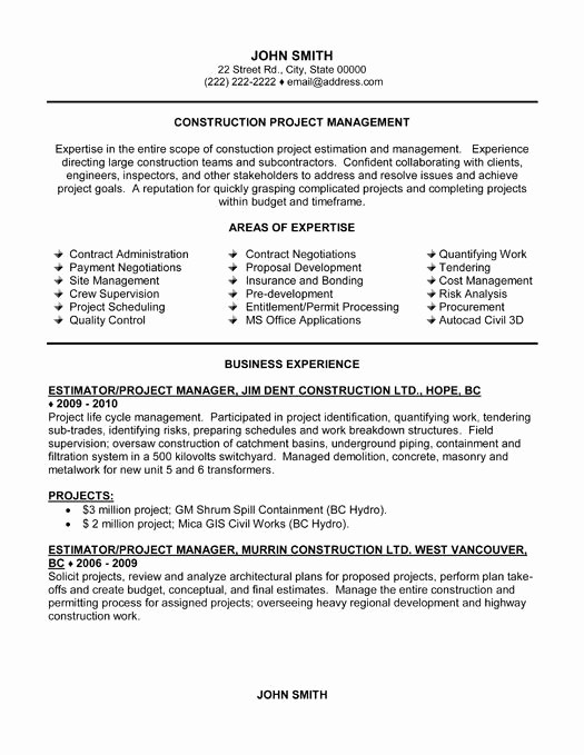 What Microsoft Program Makes Resumes Inspirational 21 Best Best Construction Resume Templates & Samples