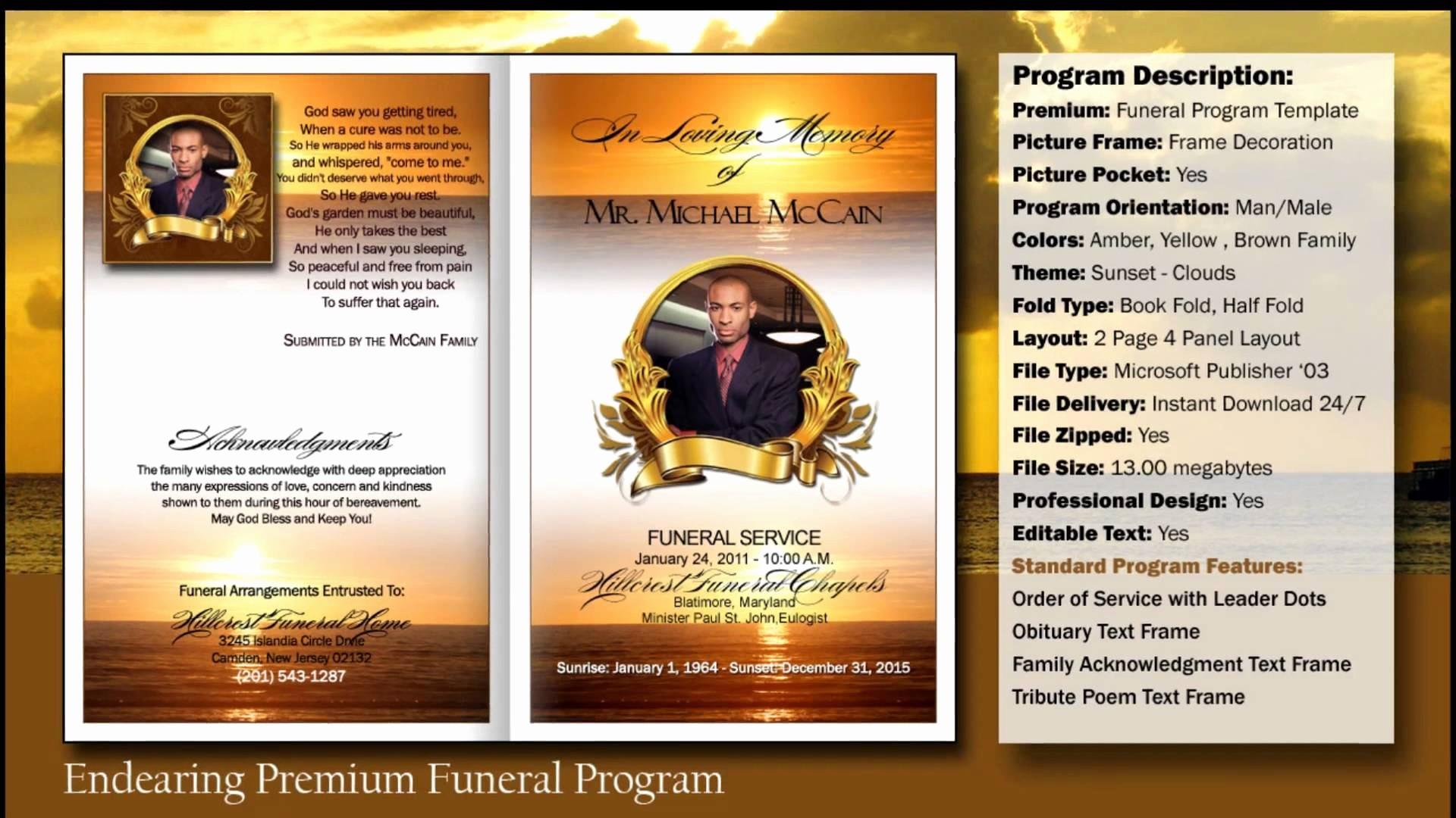 What Microsoft Program Makes Resumes Inspirational Free Funeral Program Template Microsoft Publisher