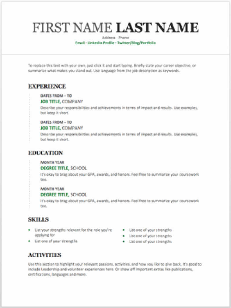 What Microsoft Program Makes Resumes Lovely 11 Free Resume Templates You Can Customize In Microsoft
