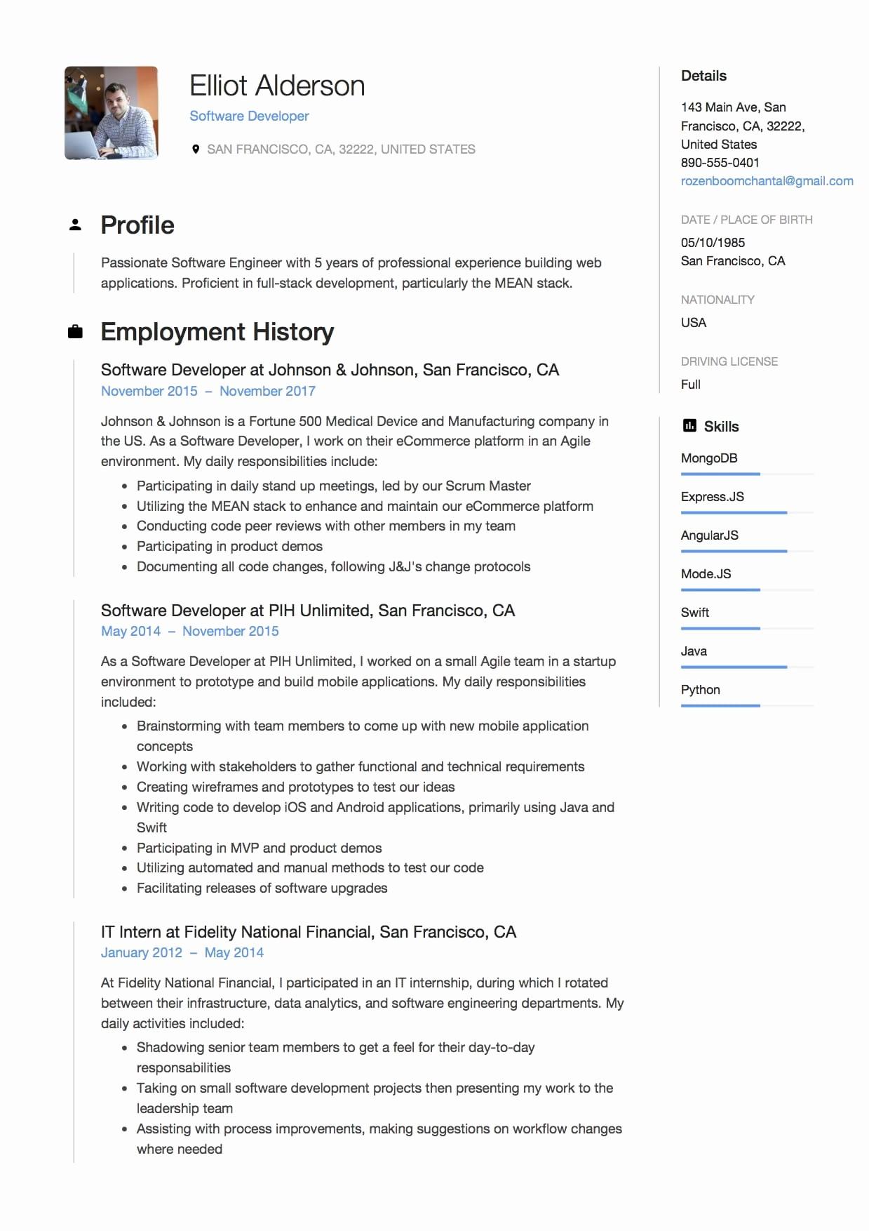 What Microsoft Program Makes Resumes Luxury 12 software Developer Resume Sample S 2018