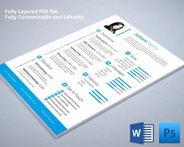 What Microsoft Program Makes Resumes Luxury Psd Resume Template – 51 Free Samples Examples format