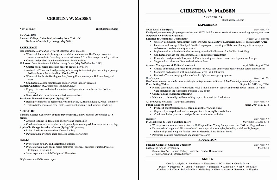 What Microsoft Program Makes Resumes Unique Best Way to Make A Resume Template