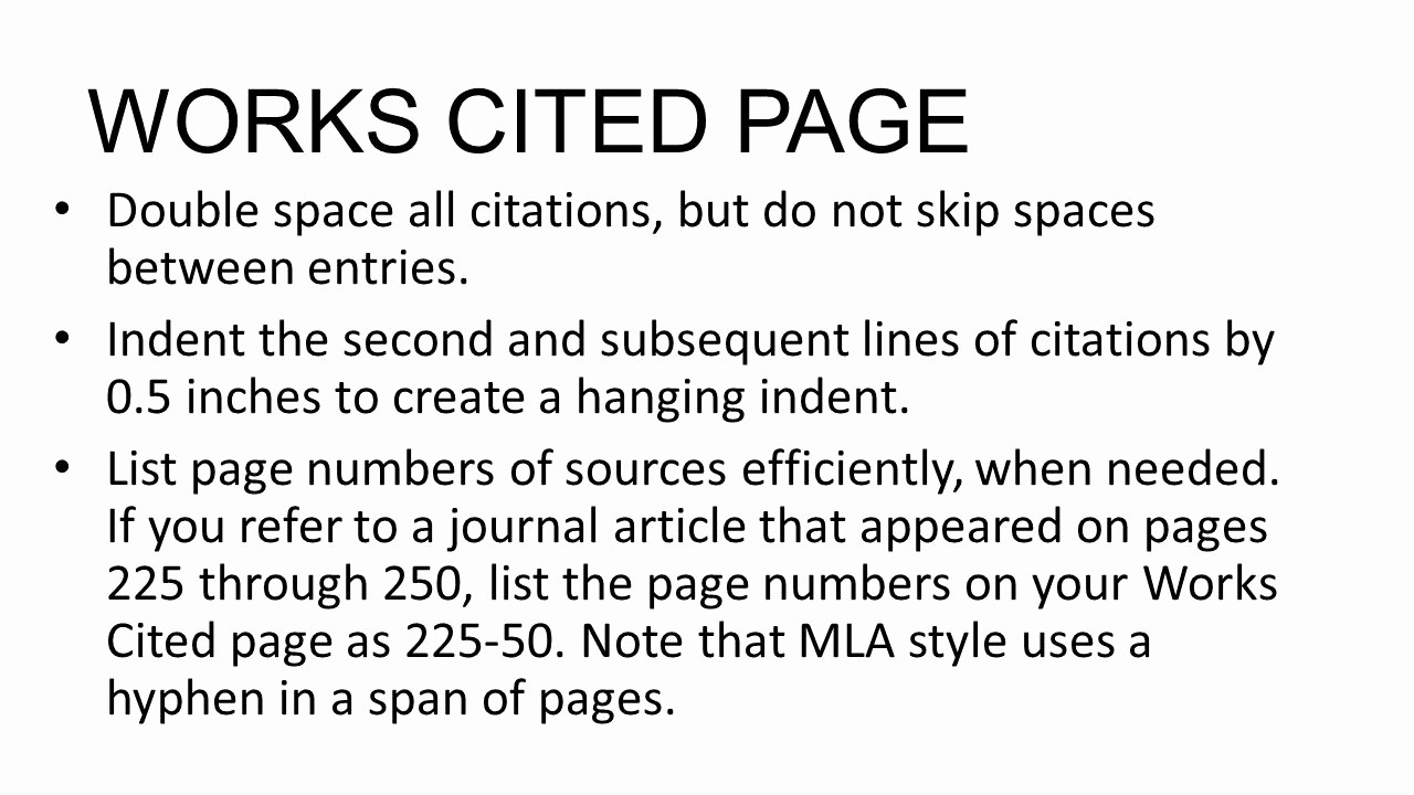 What's A Work Cited Page Beautiful Mla format for Documenting Research Ppt Video Online