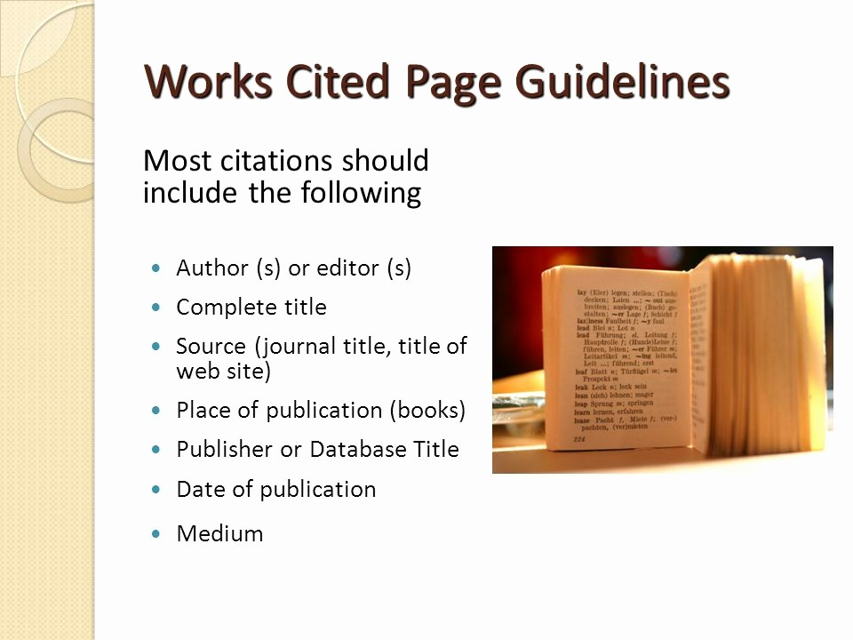 What's A Work Cited Page Best Of Mla Guidelines Adapted From Bakersfield College Library