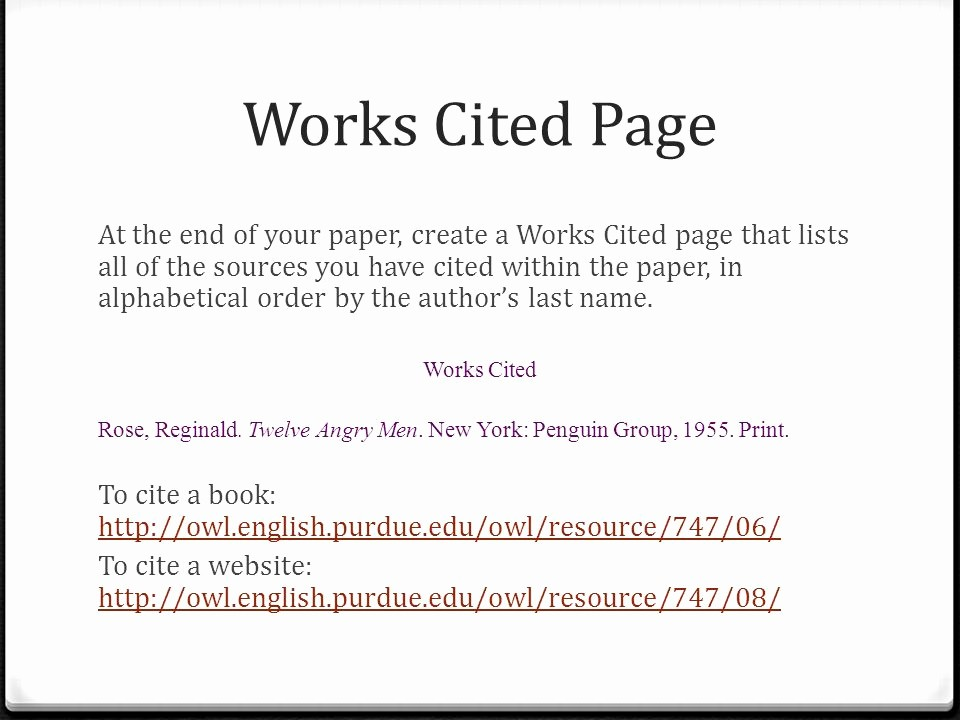 What's A Work Cited Page Elegant Citing sources Using the Mla Style Guide Ppt Video