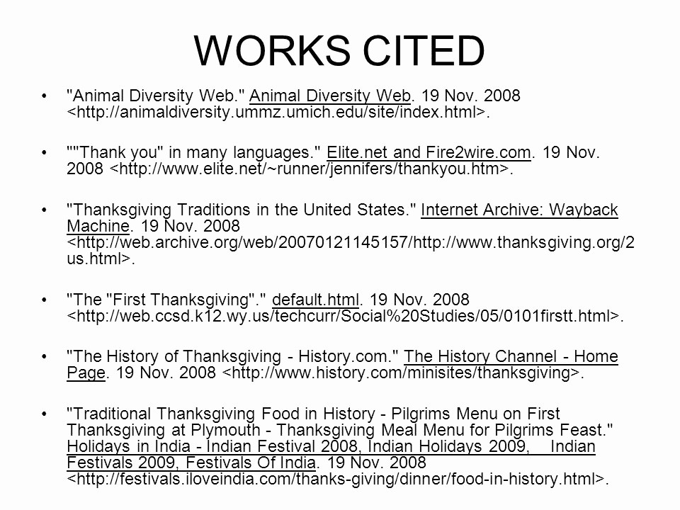 What's A Work Cited Page Elegant Works Cited Correct format for Websites Ppt Video