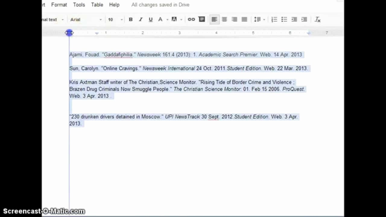 What's A Work Cited Page Inspirational Quick formatting for A Works Cited Page In Google Docs