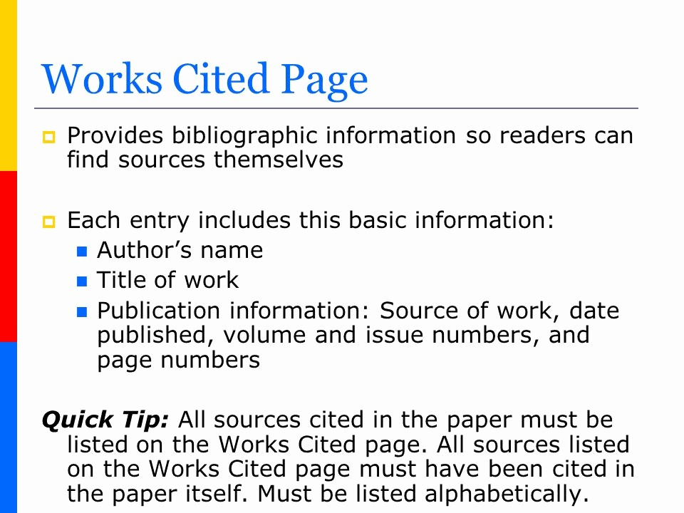What's A Work Cited Page New How to Create A Works Cited Page In Mla format Ppt Video