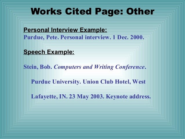 What's A Work Cited Page Unique Mla format