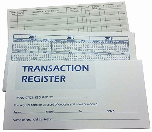 Where to Buy Check Registers Beautiful Checkbook Transaction Registers with 2018 2019 2020