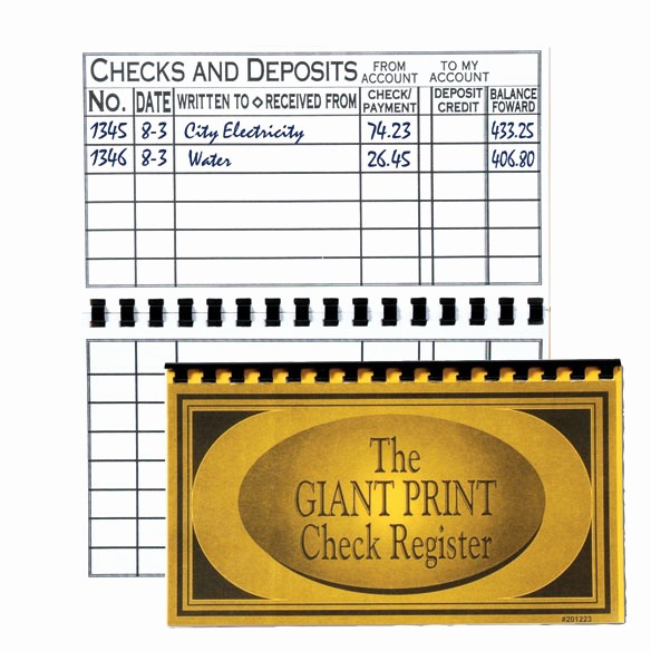 Where to Buy Check Registers Inspirational Print Check Register Checkbook Register Easy