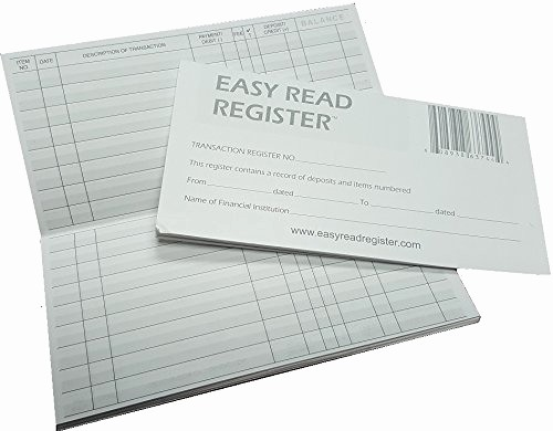 Where to Buy Check Registers Unique 5 Transaction Checkbook Registers 2018 2019 2020 Calendars