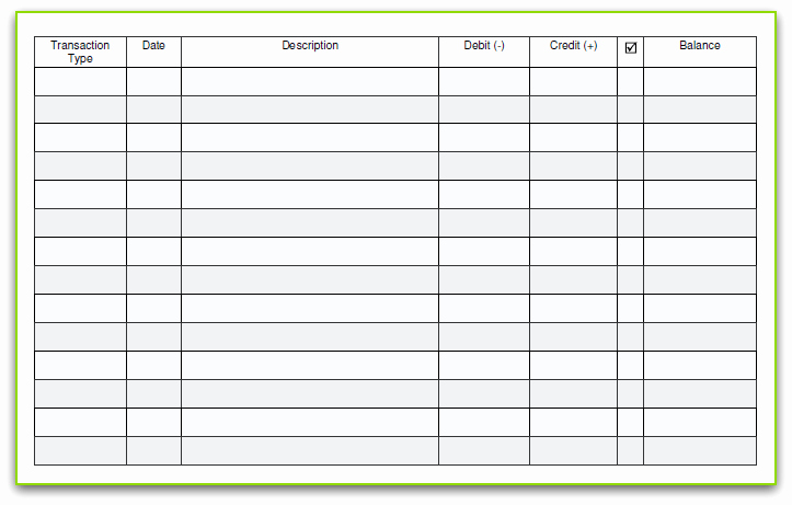 Where to Buy Checkbook Register Awesome 5 Printable Check Register Templates formats Examples