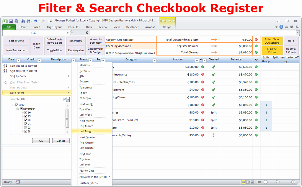 Where to Buy Checkbook Register Awesome Excel Bud Spreadsheet and Checkbook Register software