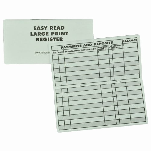 Where to Buy Checkbook Register Best Of 10 Pack Print Low Vision Checkbook Transaction