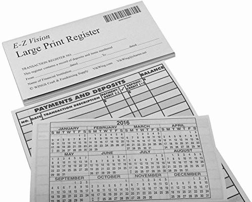 Where to Buy Checkbook Register Fresh Print Checkbook Register Low Vision 2018 19 20