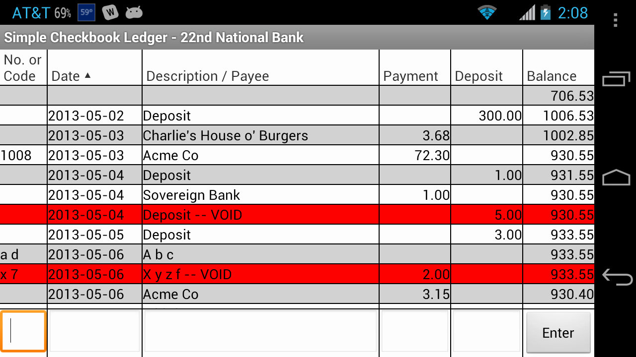 Where to Buy Checkbook Register Unique Amazon Simple Checkbook Ledger Free Appstore for android