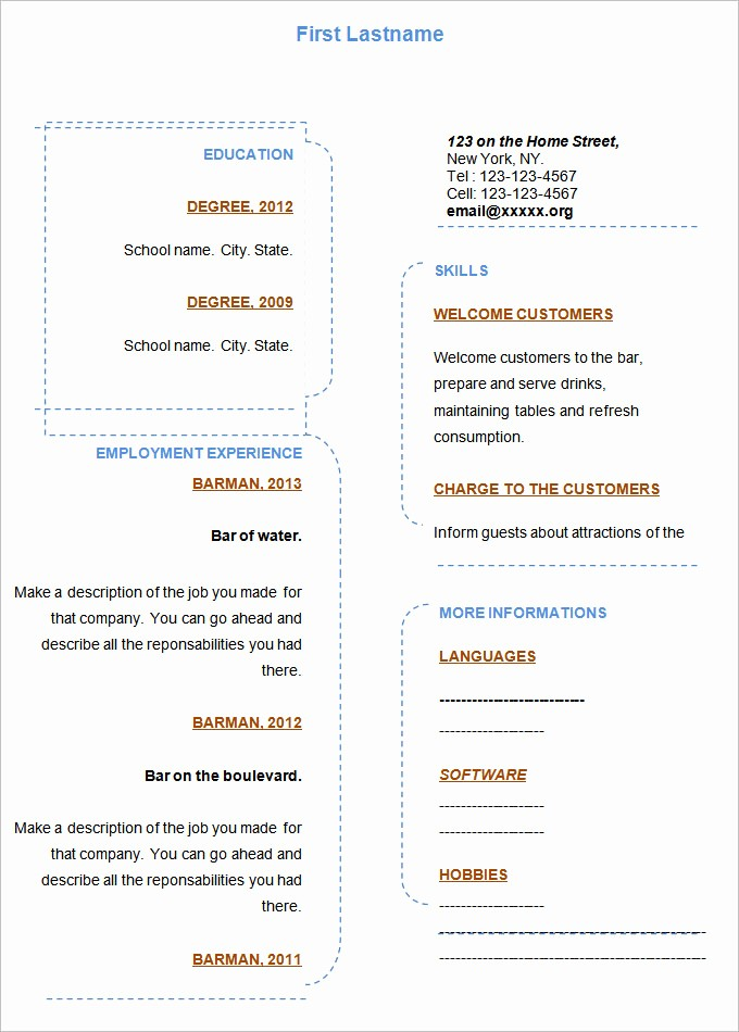 Where to Find Resume Templates Best Of 46 Blank Resume Templates Doc Pdf