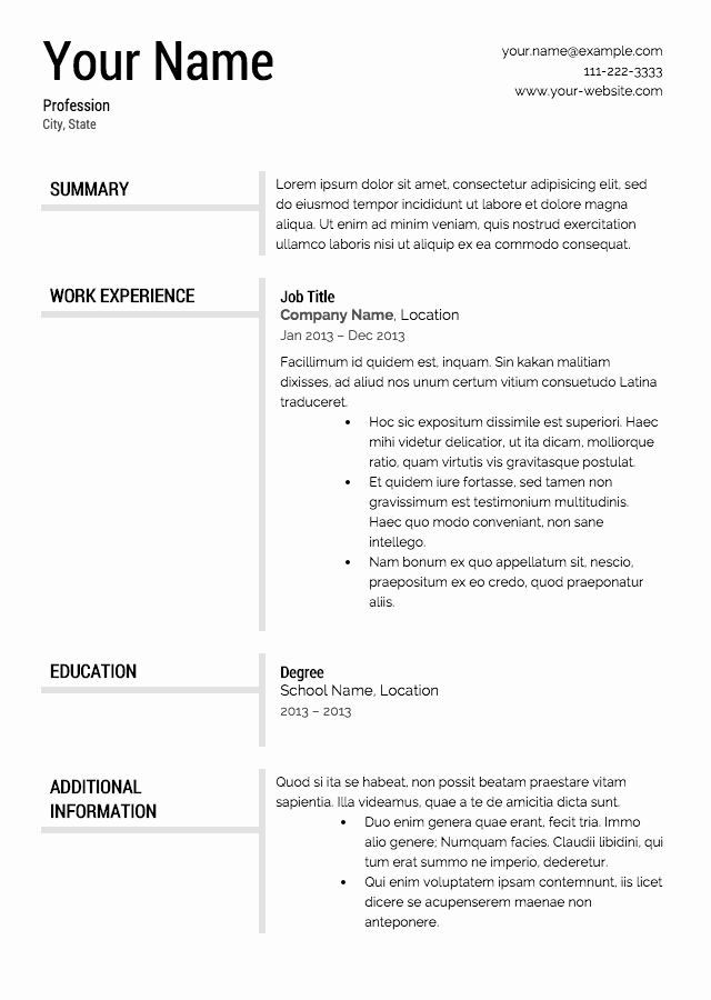 Where to Find Resume Templates Luxury Free Resume Templates Resume Cv