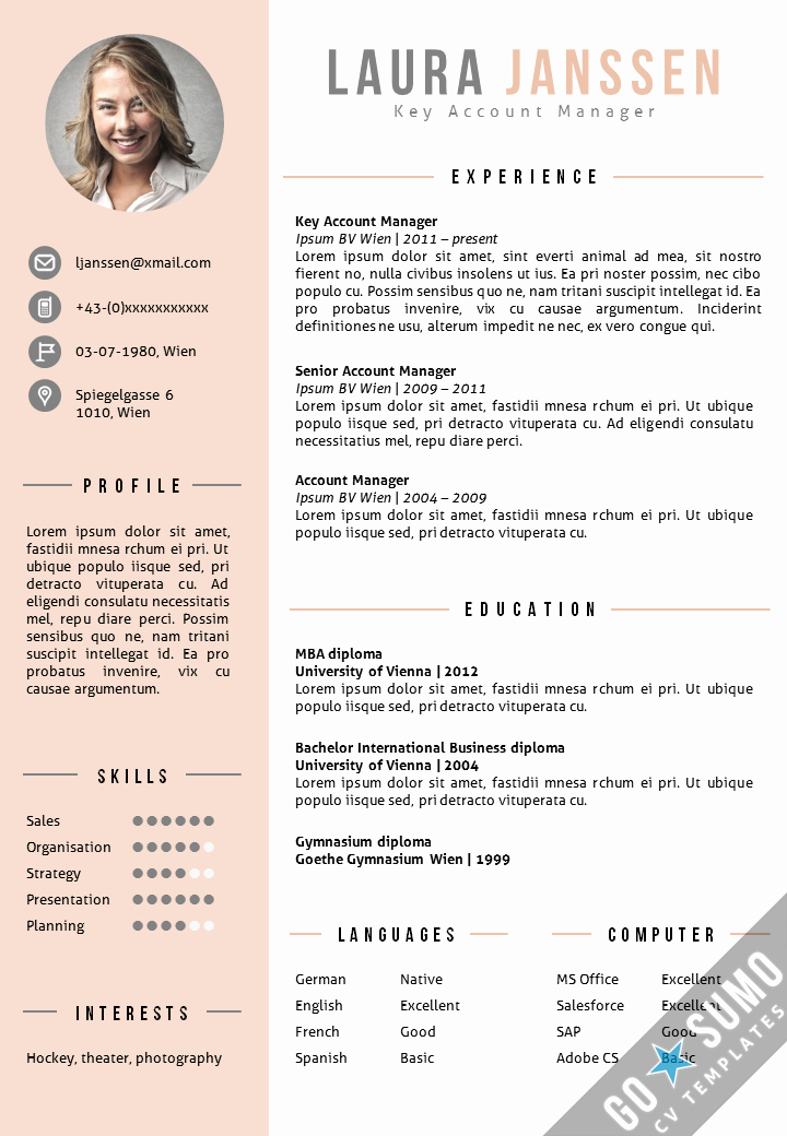 Where to Find Resume Templates New Cv Template Vienna Cv Pinterest