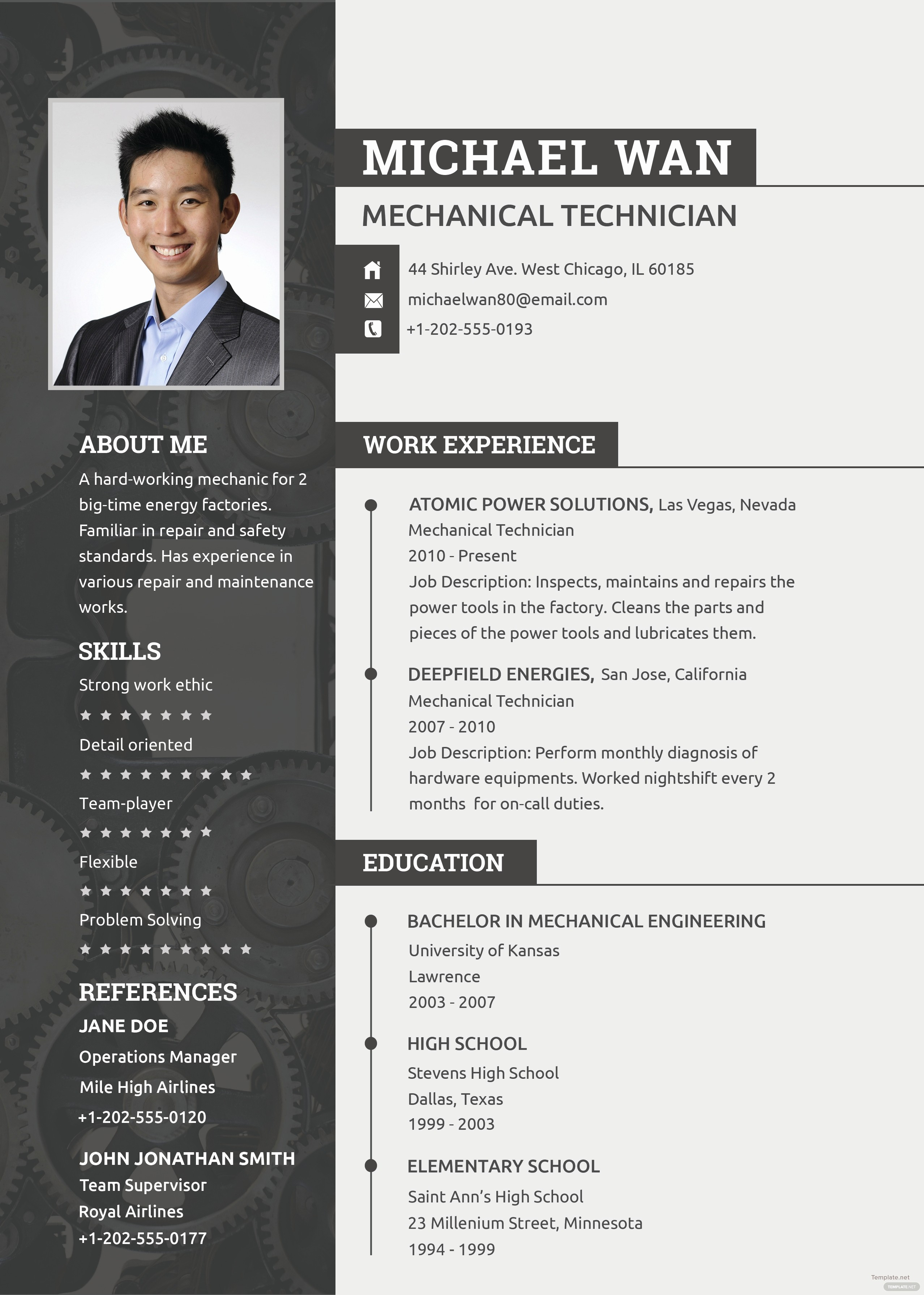 Where to Find Resume Templates Unique Free Mechanic Resume and Cv Template In Psd