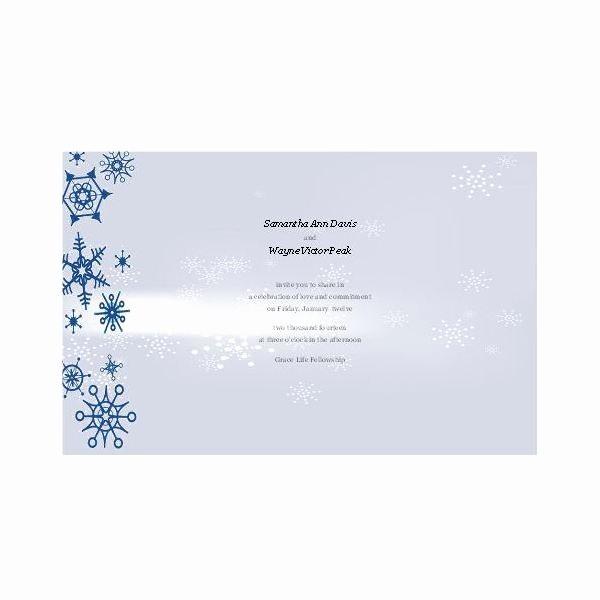 Winter Wonderland Invitation Template Free Beautiful Free Winter Wedding Invitations for Publisher Design Tips