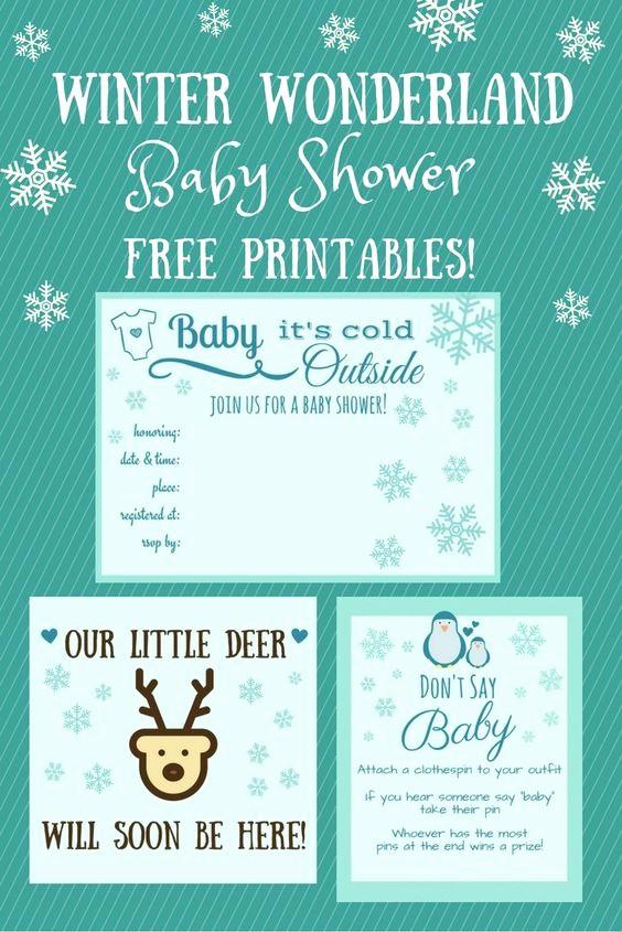 Winter Wonderland Invitation Template Free Beautiful Free Winter Wonderland Baby Shower Printables From