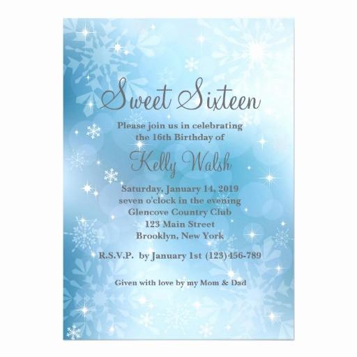 Winter Wonderland Invitation Template Free Best Of Personalized Winter Wonderland Sweet 16 Invitations