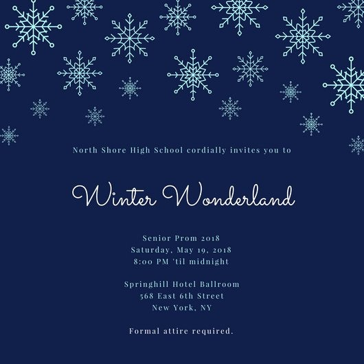 Winter Wonderland Invitation Template Free Best Of Winter Wonderland Prom Invitation Templates by Canva