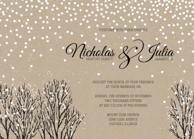Winter Wonderland Invitation Template Free Elegant Wedding Invitation Templates Winter Wonderland Wedding