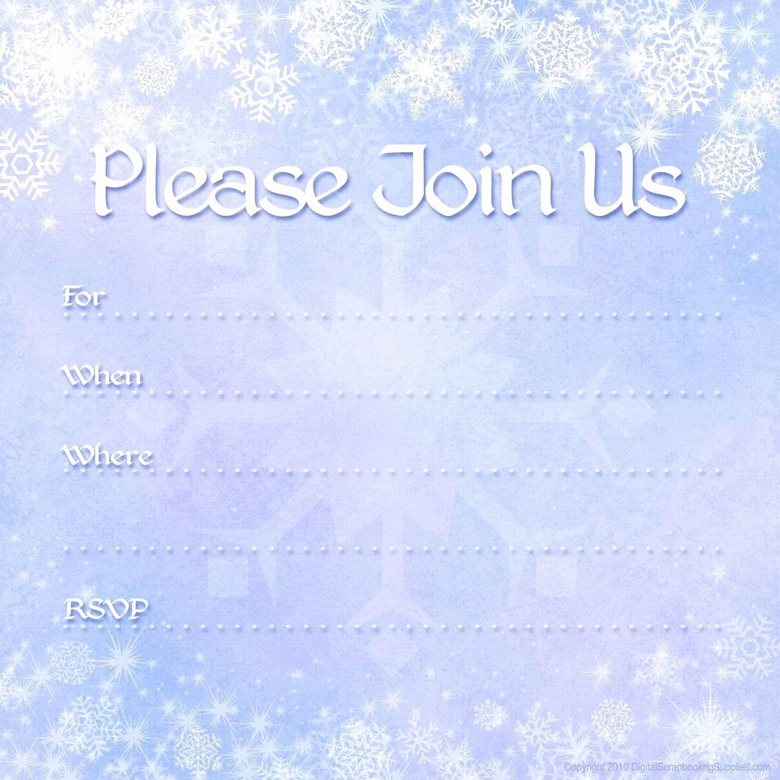 Winter Wonderland Invitation Template Free Elegant Winter Wonderland Invitation Template Free 2018 25 Elegant