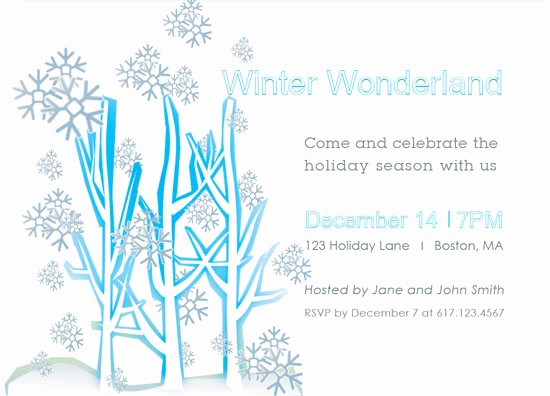 Winter Wonderland Invitation Template Free Fresh Party Invitations Winter Wonderland Party Invitations at