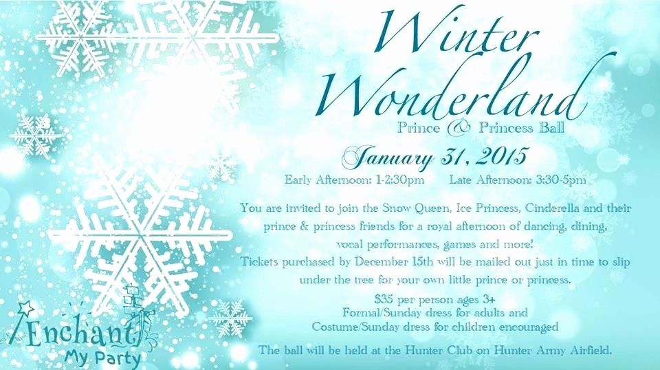 Winter Wonderland Invitation Template Free Fresh Winter Wonderland Party Invitations Ball Invitation