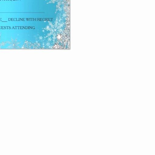 Winter Wonderland Invitation Template Free Inspirational Blue Winter Wonderland Christmas Holiday Rsvp Card